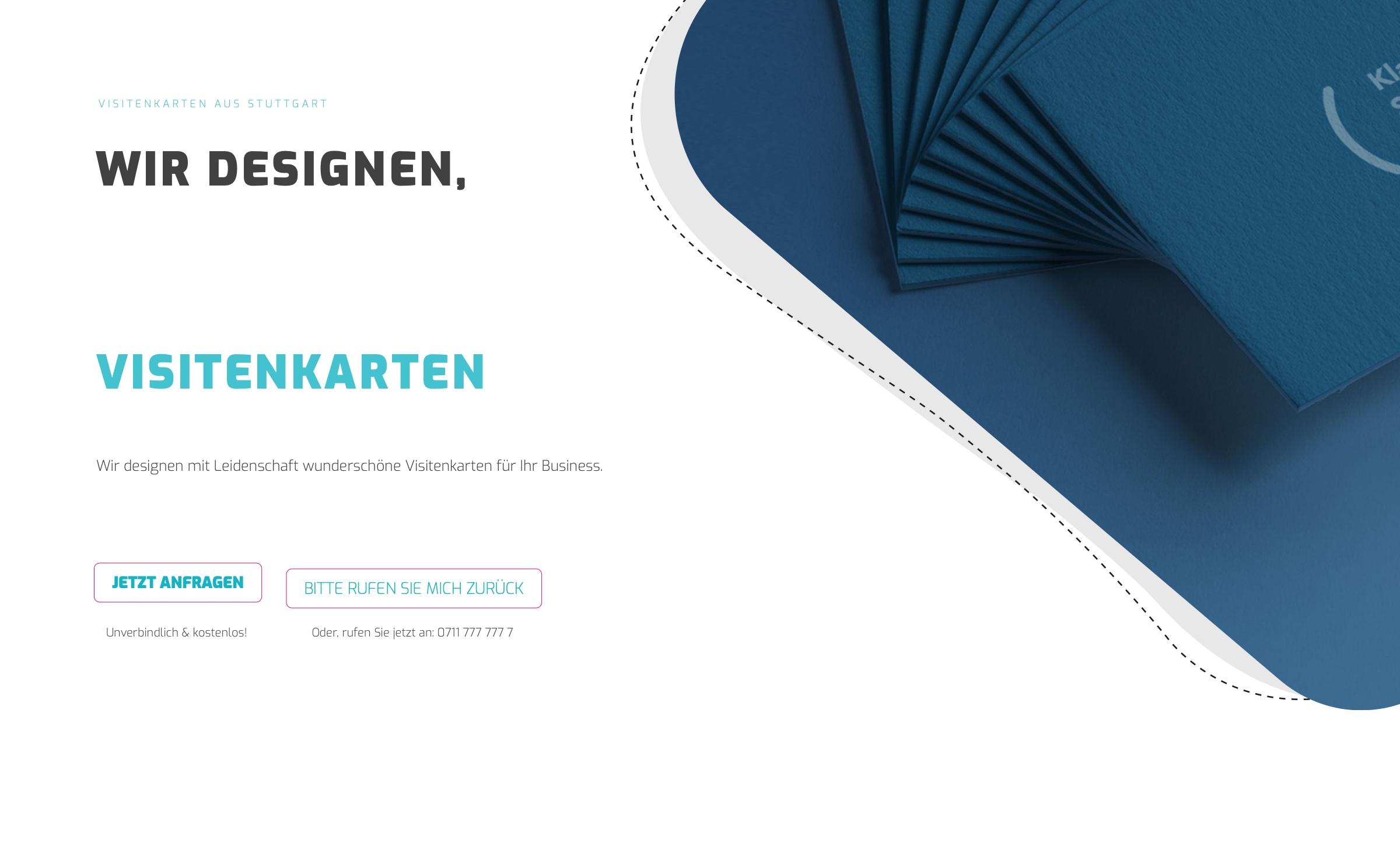 Visitenkarten Stuttgart Erstellen Gestalten Von